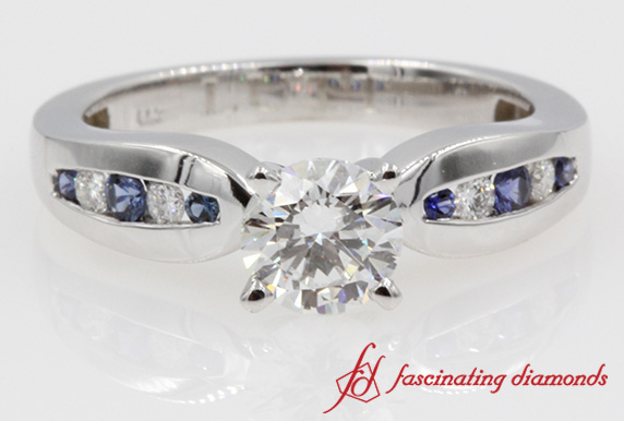 Bow Sapphire Engagement Ring