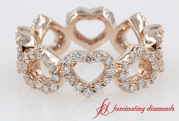 Open Heart Diamond Linked Band