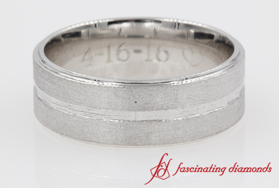 Mens Engraved Band