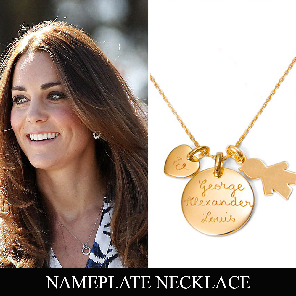 Ways to wear your jewelry like a celebrity fascinating diamonds nameplate necklace aloadofball Image collections
