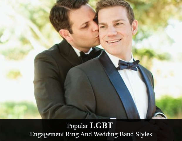 Popular LGBT Engagement Ring And Wedding Band Styles