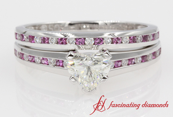 Channel Set Bridal Ring Set