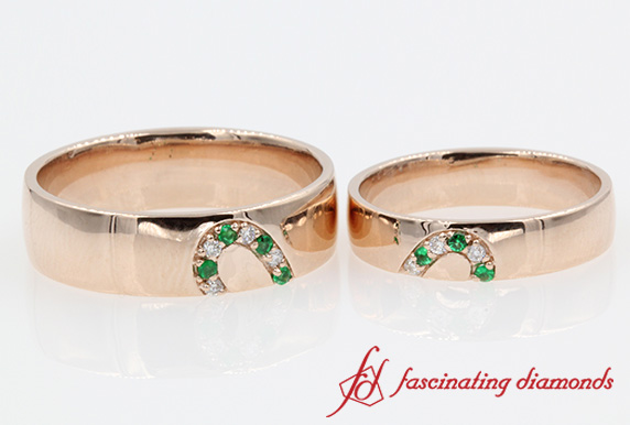 Emerald Band For Him And Her