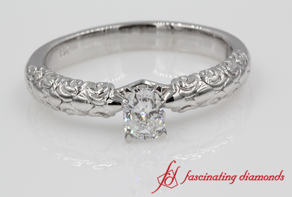 Cushion Cut One Stone Ring