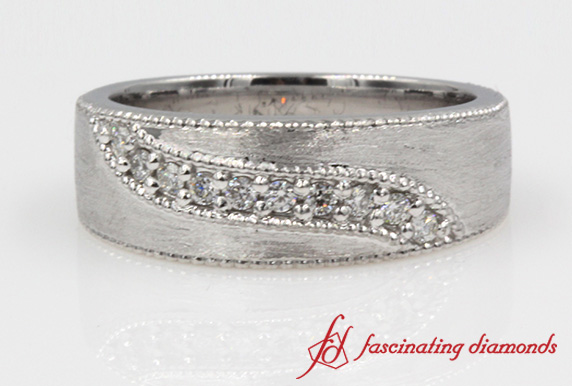 Milgrian Diamond Wedding Band