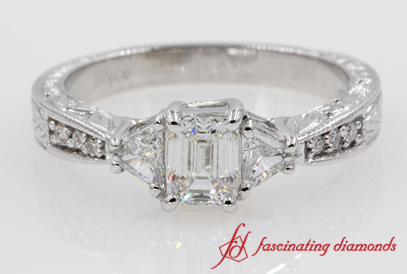 Emerald Cut Accent Ring