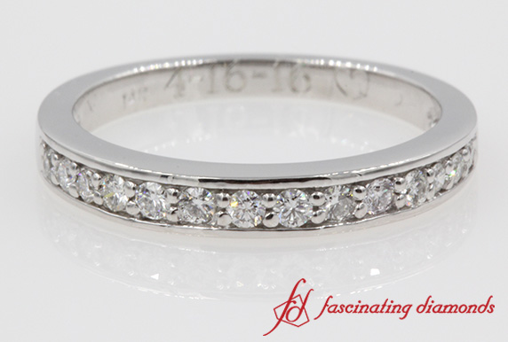 Wedding Diamond Band For Women In 14K White Gold