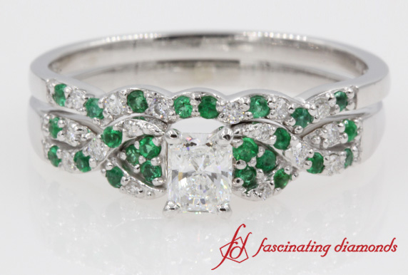 Emerald Twist Bridal Set