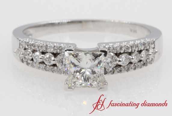 3 Row Engagement Ring