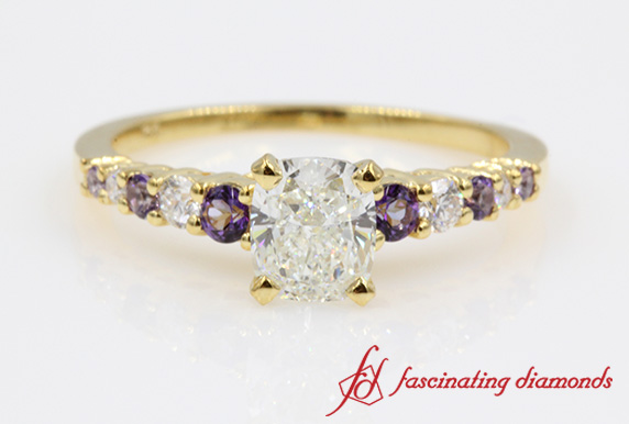 Graduated Purple Topaz Ring