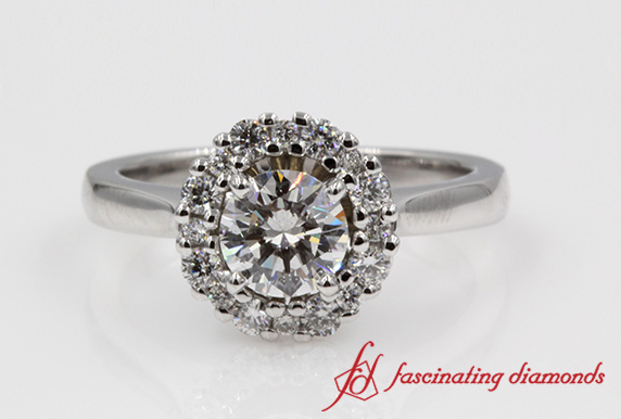 Round Cut Diamond Halo Ring