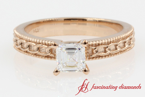 Milgrain Vintage Diamond Ring