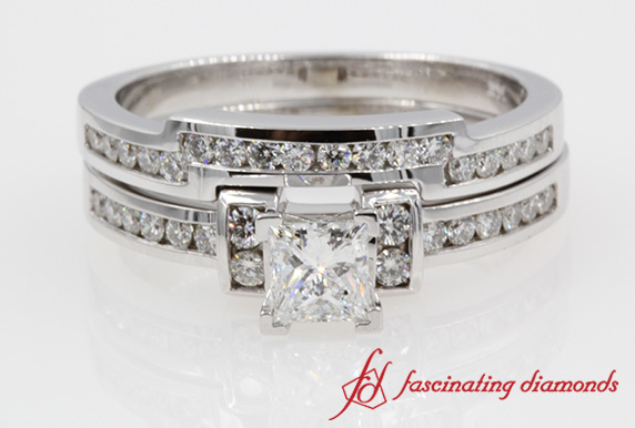 Channel Princess Diamond Ring Set