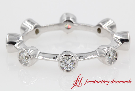 Bezel Set Round Eternity Band