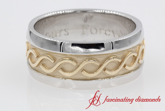 Two Tone Engraved Band