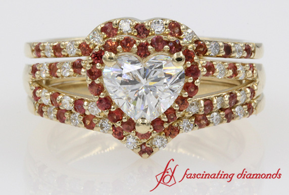 Halo Heart Wedding Set