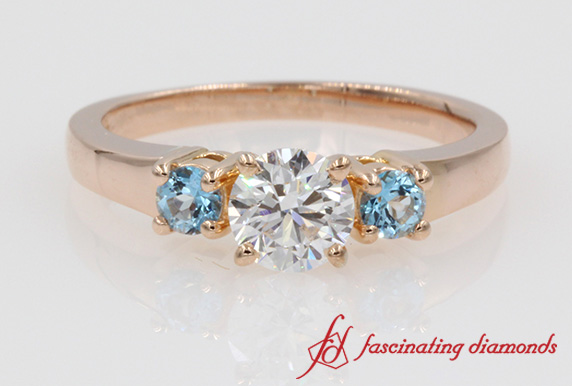 3 Stone Ring With Topaz