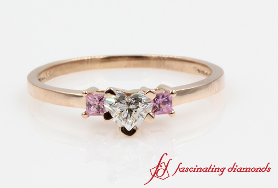 Rose Gold 3 Stone Ring