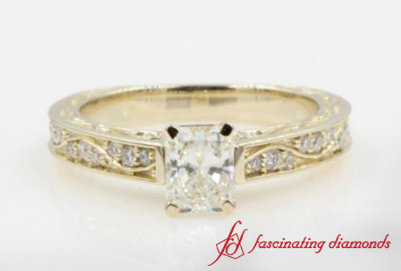 Radiant Cut Diamond Filigree Ring
