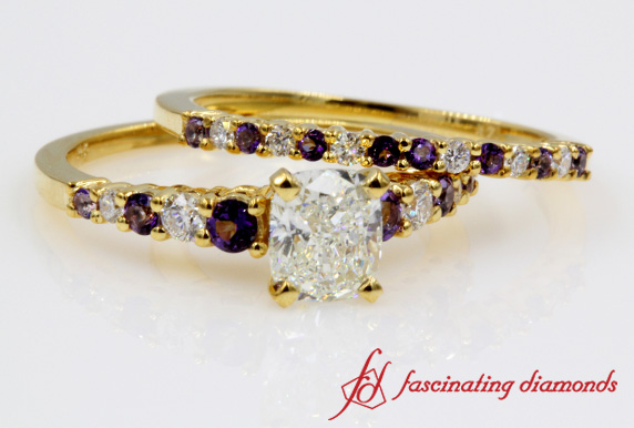 Cushion Diamond Bridal Set