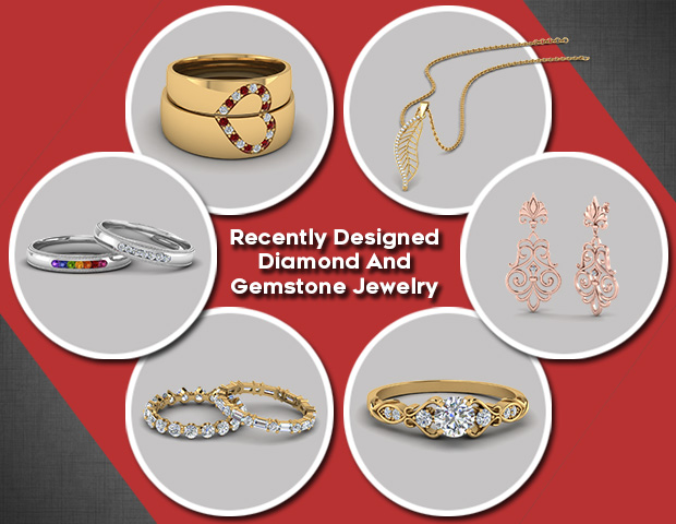Recently Designed Diamond And Gemstone Jewelry