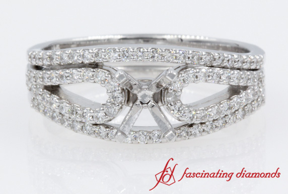 White Gold Loop Diamond Ring Settings