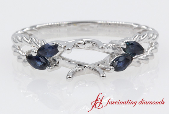Twisted Rope Sapphire Ring Setting