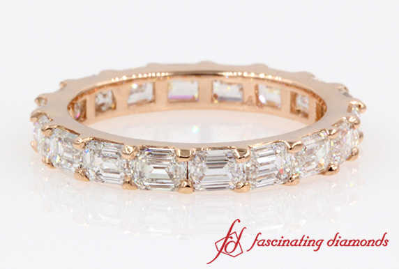 Eternity Emerald Cut Diamond Band