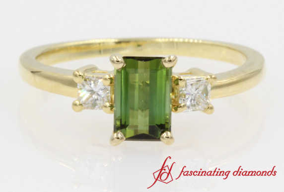 Customized Emerald Peridot Ring