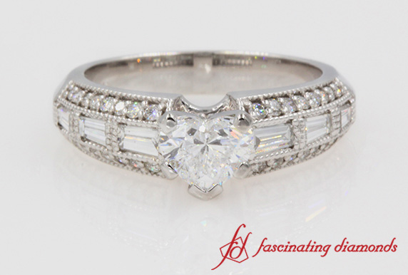 Antique Baguette Diamond Ring