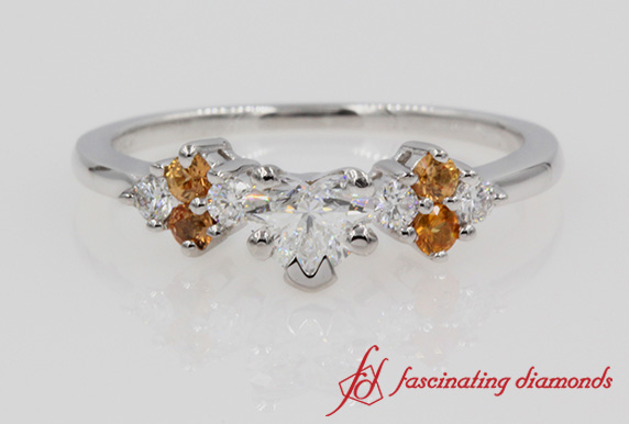 Beautiful Heart Cut Diamond Ring