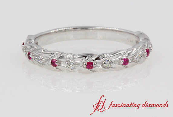 Ruby Leaf Design Band