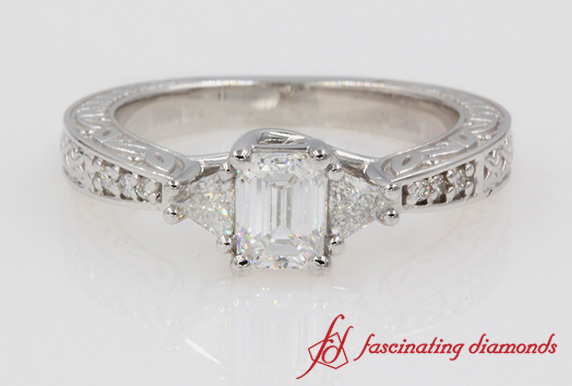 Trillion Diamond Vintage Ring