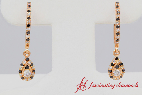 White And Black Diamond Earring