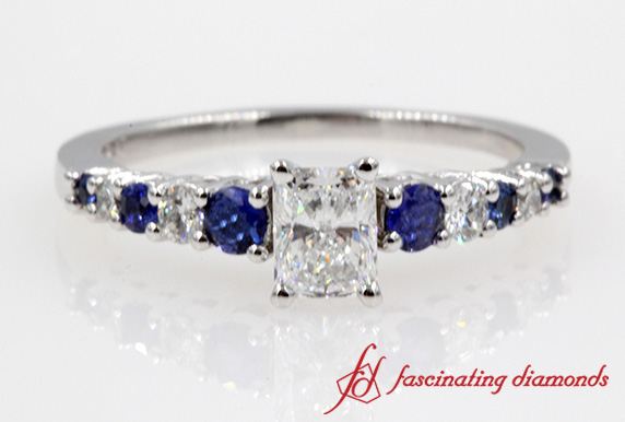 Graduated Radiant Diamond Ring