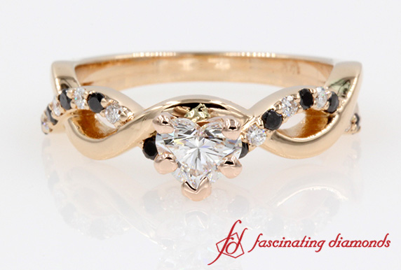 1 Ct. Heart Diamond Infinity Ring