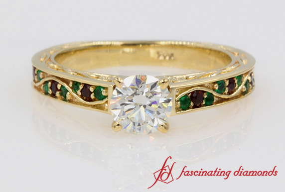 Customized Round Diamond Ring