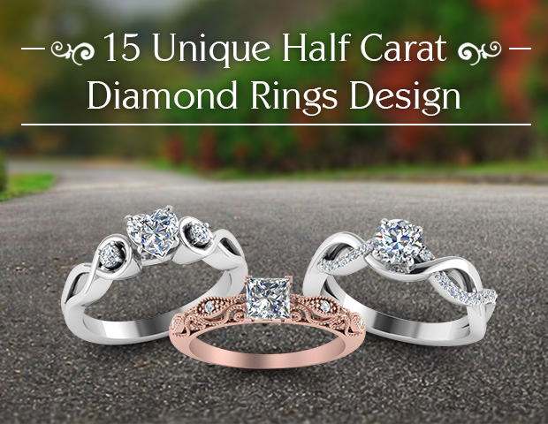 Unique 1/2 Carat Diamond Rings