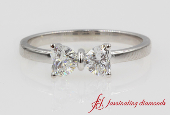 0.64 Ct. Heart Diamond Promise Ring