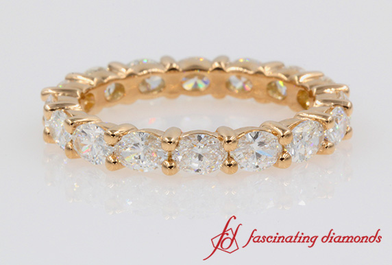 3 Carat Oval Diamond Eternity Band