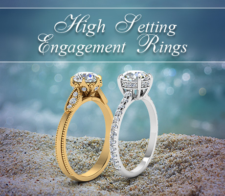 high setting engagement rings