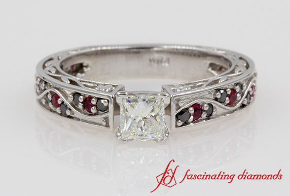 Ruby And Black Diamond Antique Ring
