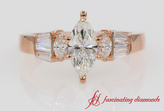 Marquise Diamond And Baguette Ring
