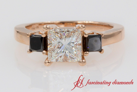 3 Princess Cut Ring