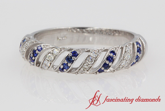 Rope Design Diamond Band