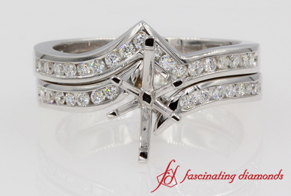 Twisted Diamond Wedding Set