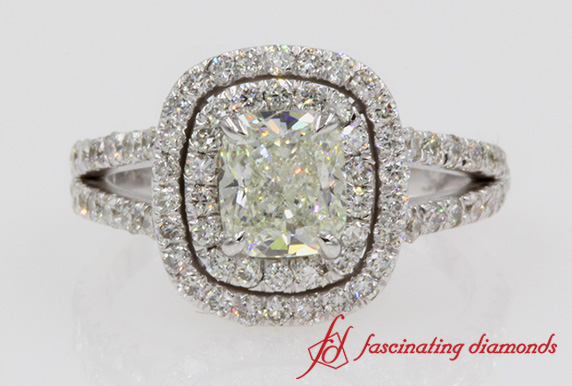 1 Ct. Diamond Double Halo Engagement Ring
