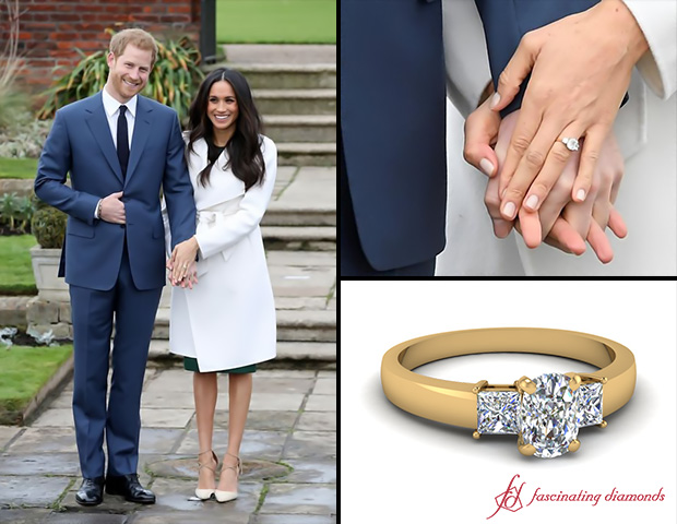 A Three Stone Ring Like MEGHAN MARKLE'S