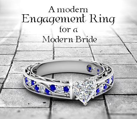 A Modern Engagement Ring For a Modern Bride.