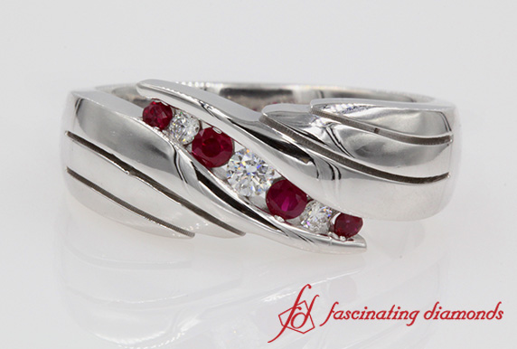 Ruby Mens Wedding Band